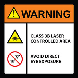 Laser Area Warning Sign